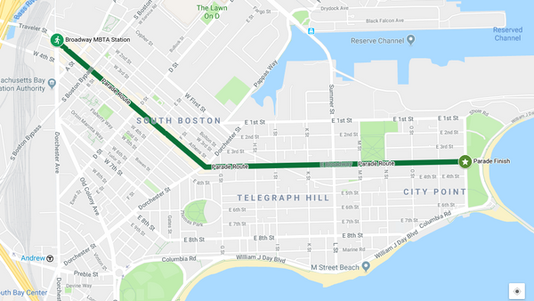 2018 St Patrick's Day Parade Route