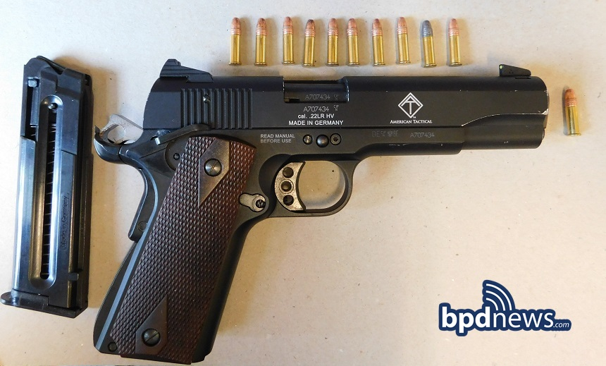 GUN RECOVERED IN INCIDENT #1