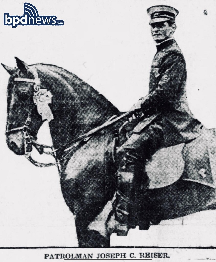 The Boston Police Department Remembers the Service and Sacrifice of Officer Joseph C. Reiser 103 Years Ago Today