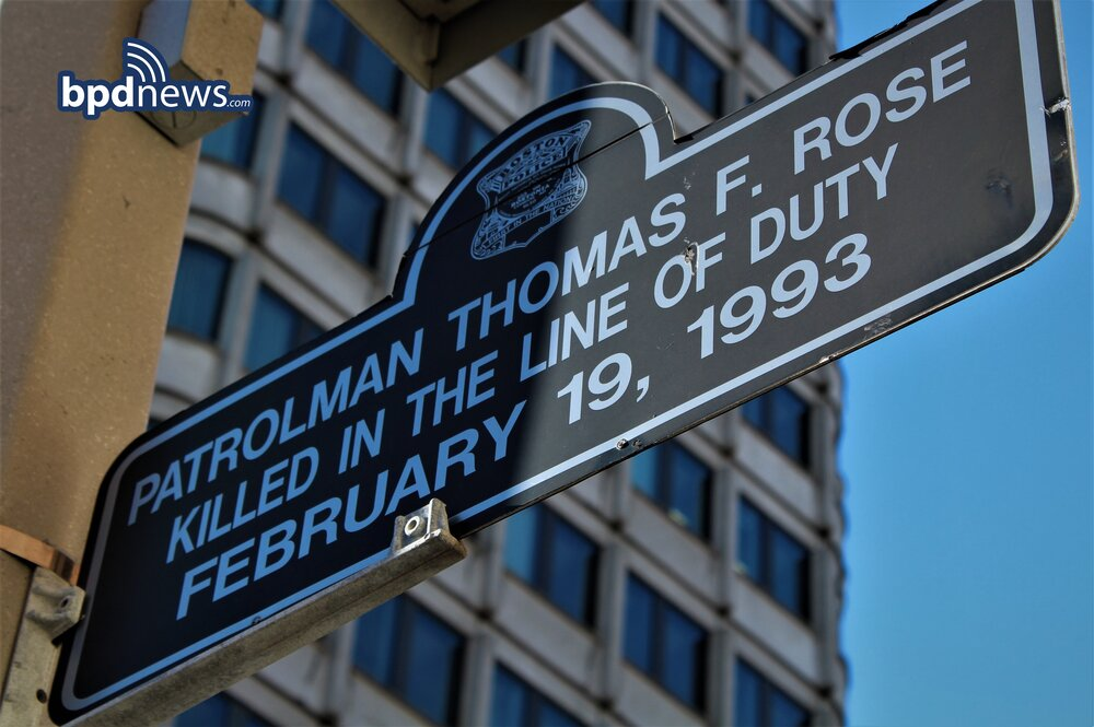 The Boston Police Department Remembers the Service and Sacrifice of Officer Thomas F. Rose 28 Years Ago Today