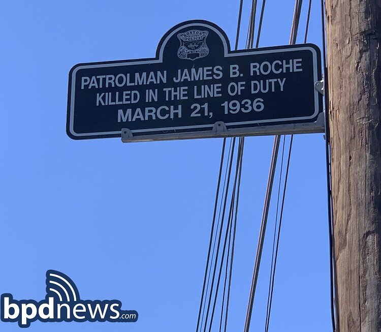 The Boston Police Department Remembers the Service and Sacrifice of Officer James B. Roche 85 Years Ago Today