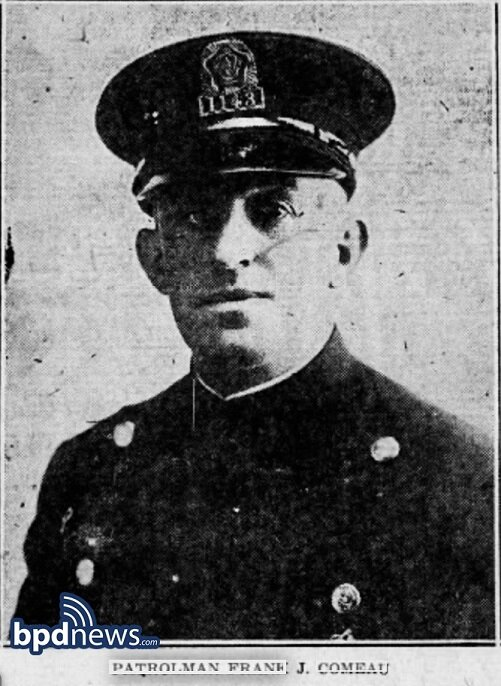 The Boston Police Department Remembers the Service and Sacrifice of Officer Frank J. Comeau 95 Years Ago