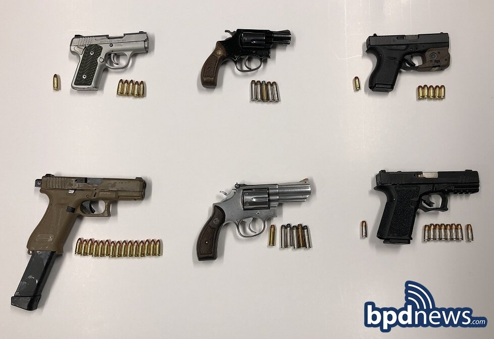 Three Suspects in Custody Following the Recovery of Six Illegal Firearms in Dorchester