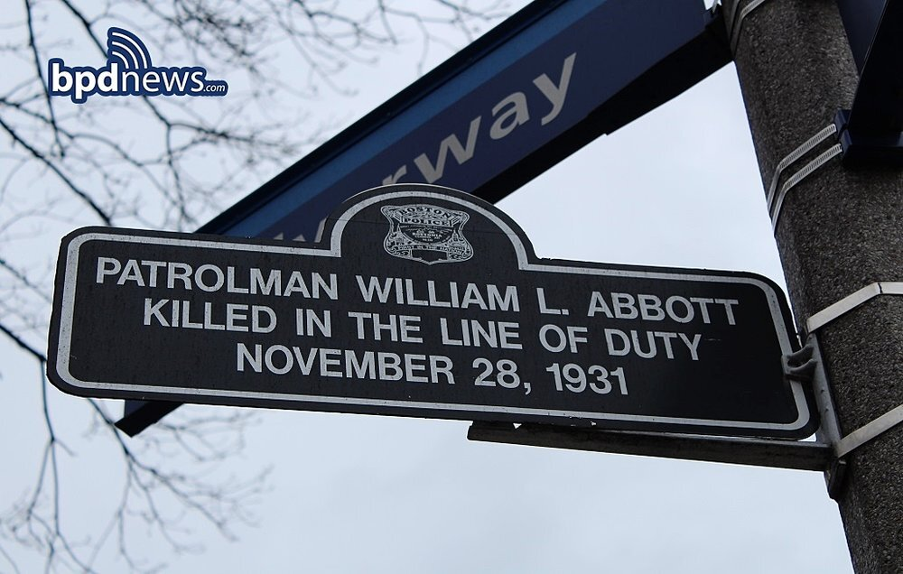 The Boston Police Department Remembers the Service and Sacrifice of Officer William L. Abbot Killed in the Line of Duty 89 Years Ago