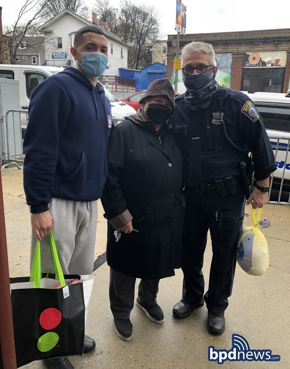 District E-13 Partners with Local Community Organizations to Deliver Thanksgiving Meals Provided by Roche Bros to Families in Need throughout Jamaica Plain