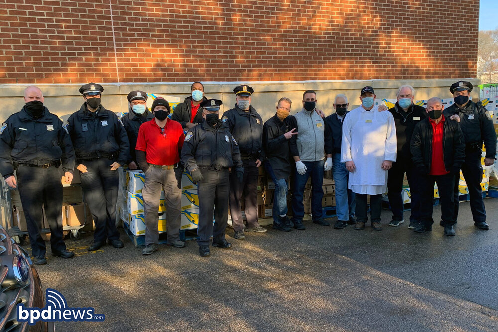 BPD in the Community: Officers from District E-5 and Community Partners Distribute Holiday Meals for Families in Need in West Roxbury and Roslindale