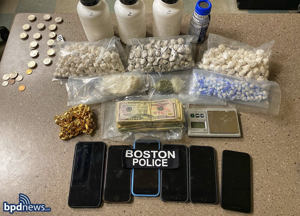 Officers Arrest Two Males on Drug Charges after a Traffic Stop in Dorchester