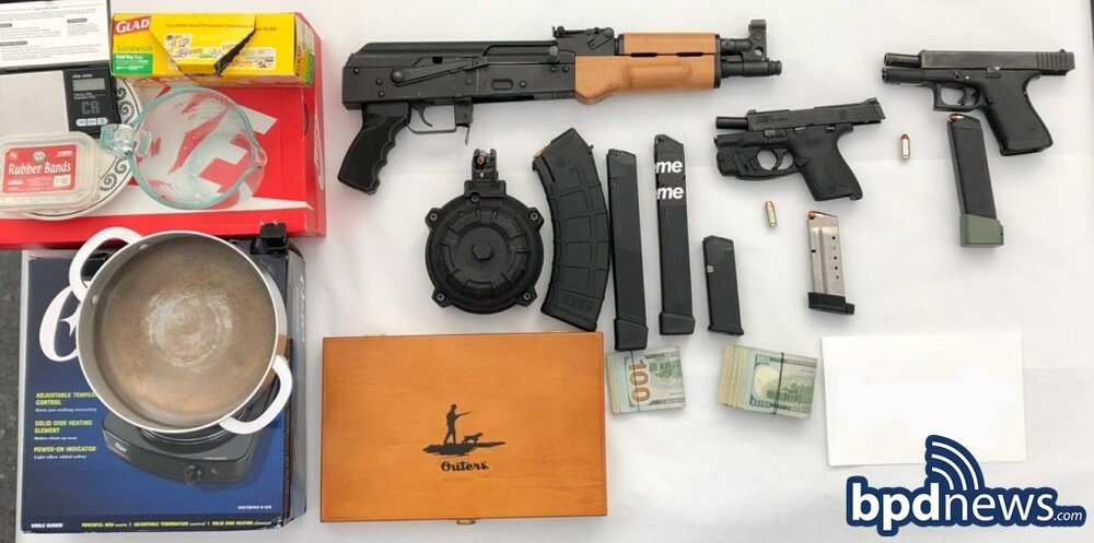 BPD Officers Arrest Suspect After Recovering Firearms, Drugs and Cash While Executing Search Warrant in Dorchester