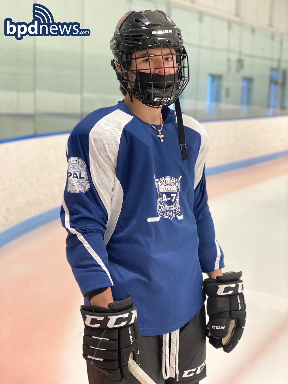 BPD in the Community: District A-7 Community Service Officers Return to Hosting Hockey Clinics in East Boston