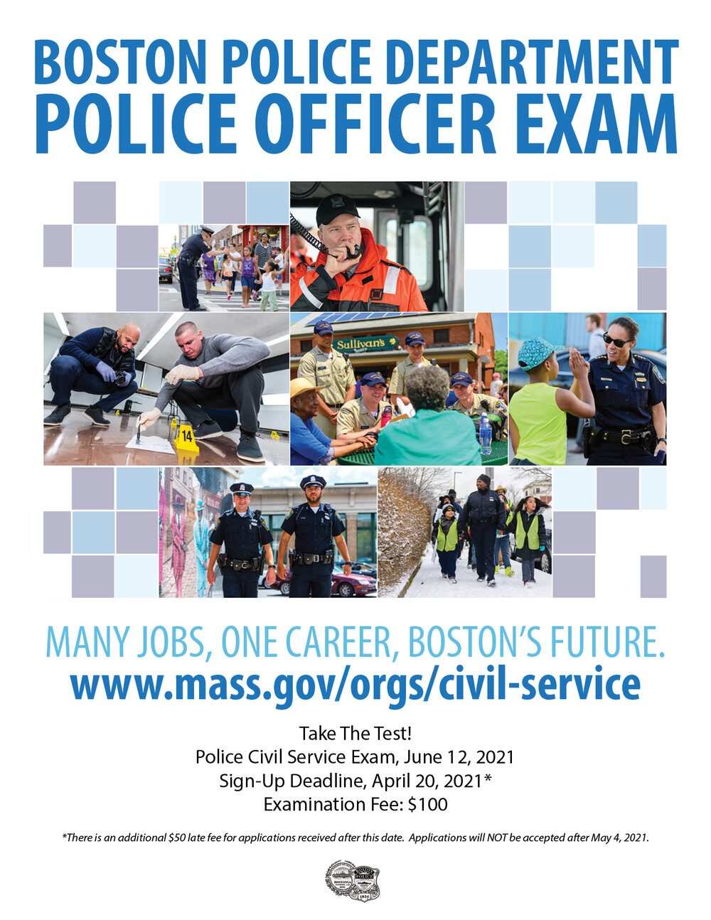 The Massachusetts Civil Service Exam for Police Officers is Scheduled for June 2021