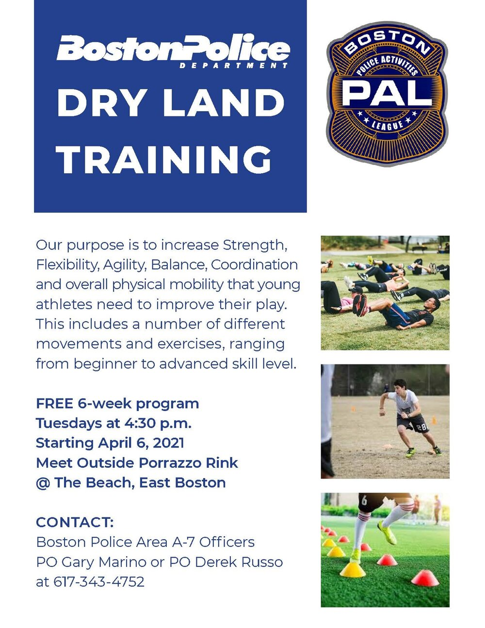 District A-7 Community Service Office to Begin Six Week Dry Land Training Program for All Athletic Skill Levels in East Boston