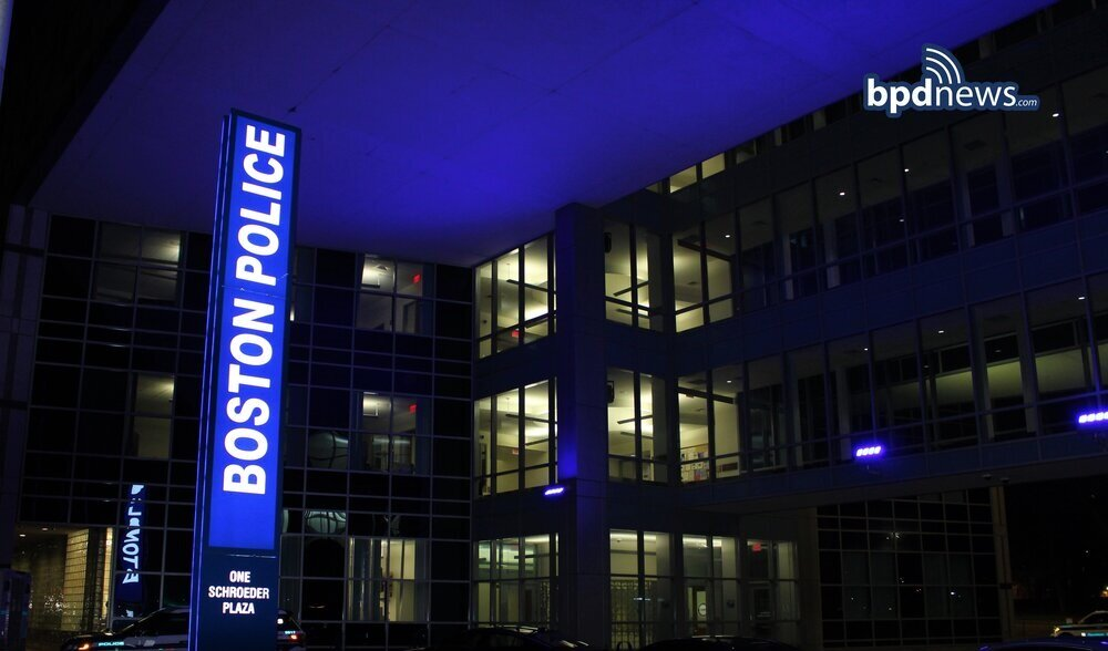 The Boston Police Department Lights Up Headquarters Blue to Celebrate World Autism Day