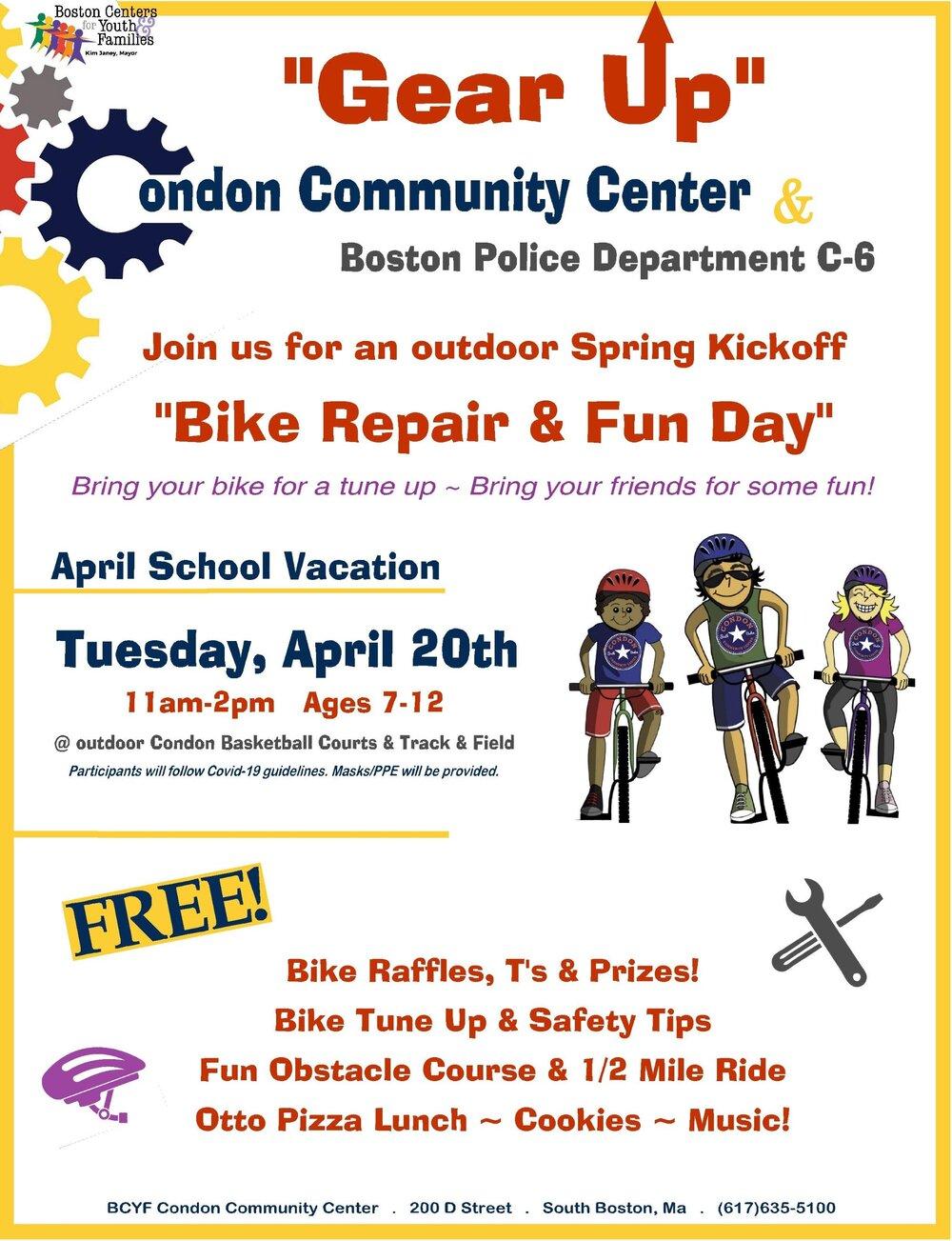 "BPD in the Community: District C-6 (South Boston) ""Bike Repair & Fun Day"""
