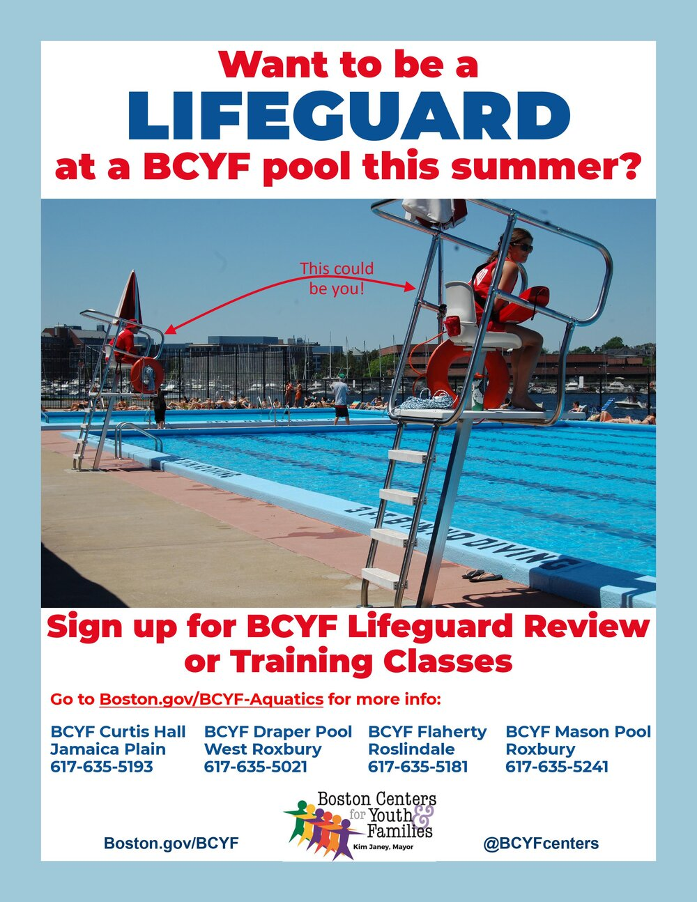 Boston Centers for Youth & Families Lifeguard Review or Training Classes