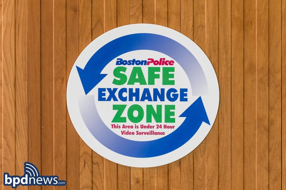 Reminder to the Public to Utilize Safe Exchange Zones located inside of Boston Police Stations