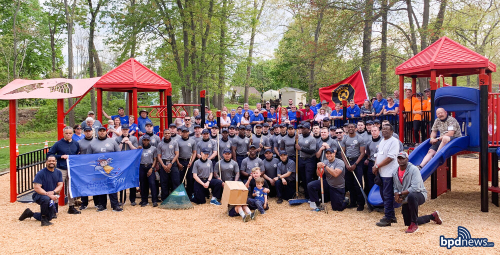 Construction Completed at Randolph Playground Named in Honor of BPD Sergeant Dennis Simmonds