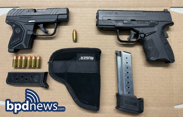 Three Suspects in Custody After BPD Officers Recover Two Loaded Firearms During Traffic Stop in Dorchester