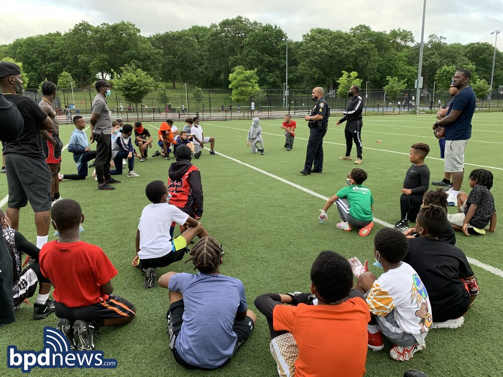 BPD in the Community: Flag Football Practice becomes an Opportunity for Community Engagement in Mattapan