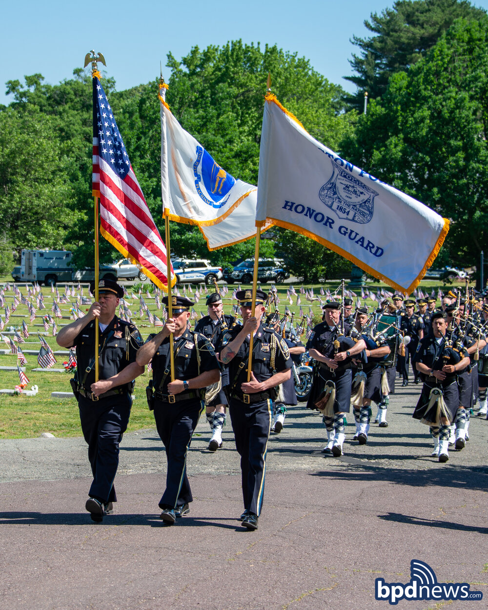 Honoring the Fallen: Annual Police Memorial Mass Held at Mount Hope Cemetery