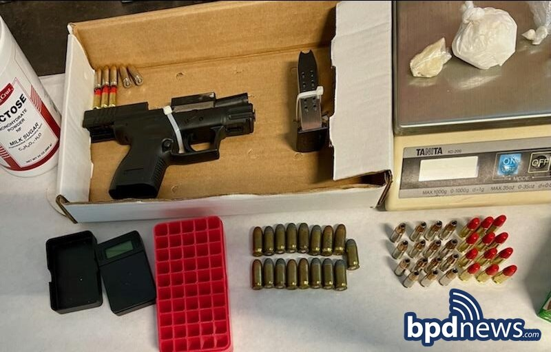 Suspect in Custody After Search Warrant Leads to the Recovery of Firearm, Ammunition and Drugs in Roxbury