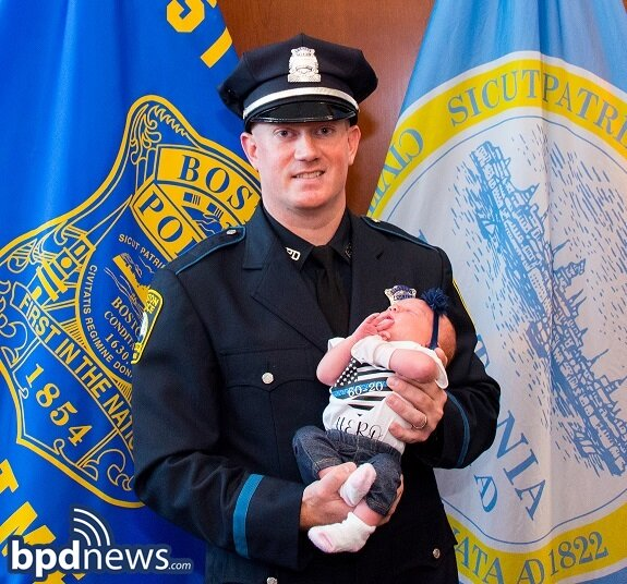 BPD Recruit Officer Sworn-In Days After Class 60-20 Ceremony Following Birth of First Child