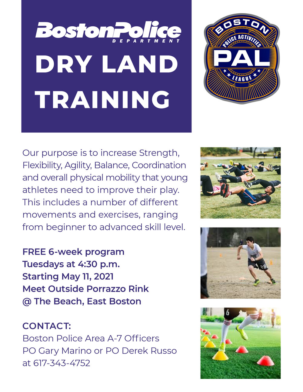 UPDATE: East Boston Dry Land Training has been Extended to July