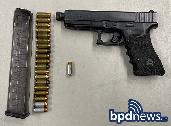 Officers Recover a Loaded Firearm After a Traffic Stop in Roxbury. One Male Arrested
