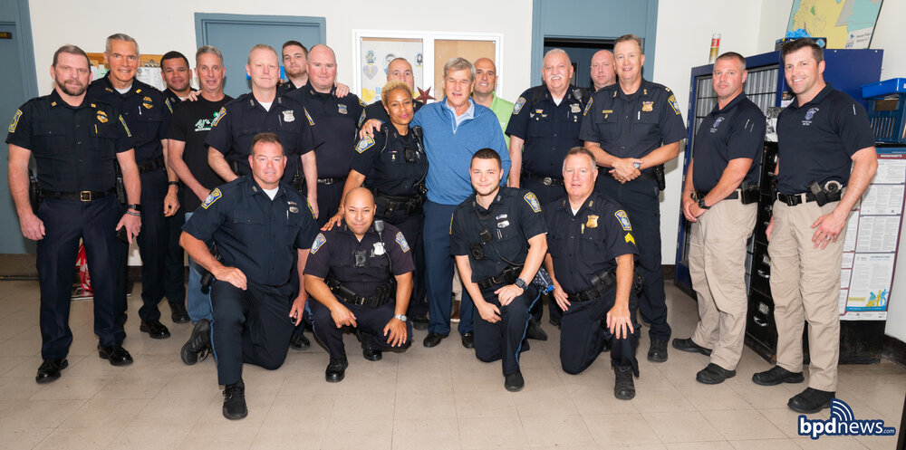 BPD Photo of the Day: Boston Bruin's Legend Bobby Orr Visits District A-7 in East Boston