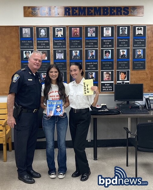 Thank You for Thanking Us: 16-Year-Old Savannah Solis and Her Family Visit Officers Assigned to District C-11 in Dorchester