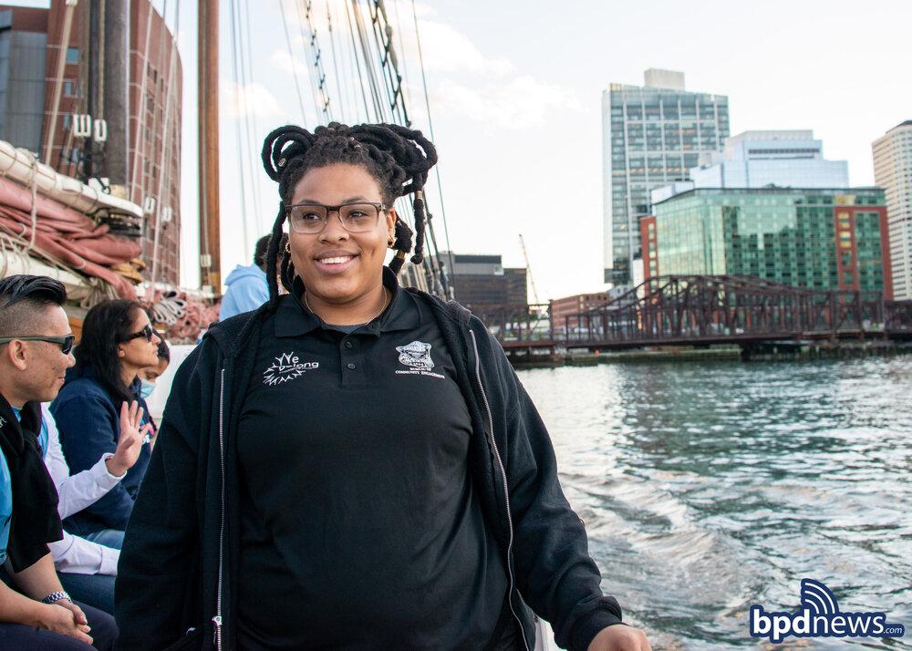 The BPD Bureau of Community Engagement and The We Belong Program Tour the Boston Harbor