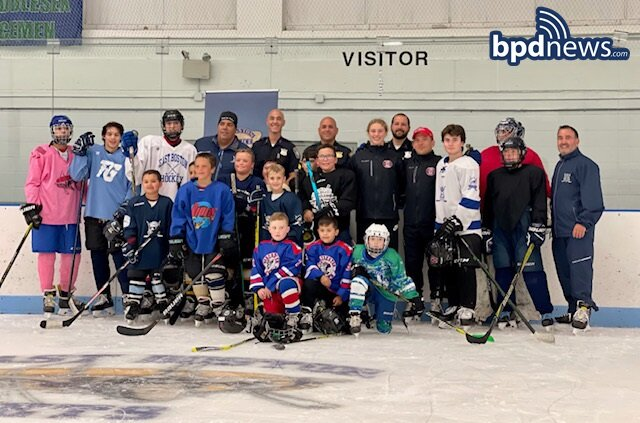 BPD in the Community: Young Skaters Take to the Ice in East Boston Thanks to Community Service Officers Assigned to District A-7