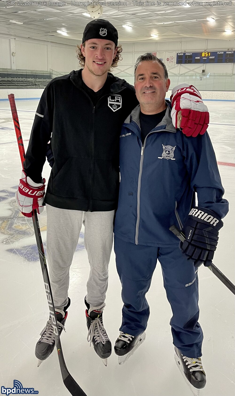 BPD in the Community: Young Skaters Take to the Ice in East Boston with NHL Player Thanks to Community Service Officers Assigned to District A-7