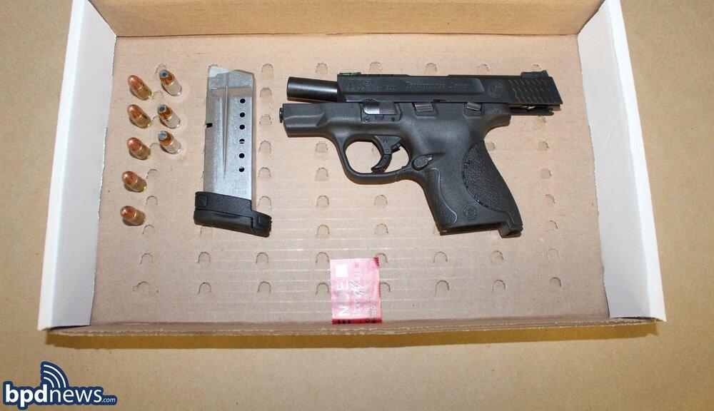 Officers Arrest Suspect in Possession of a Loaded Firearm in Roxbury