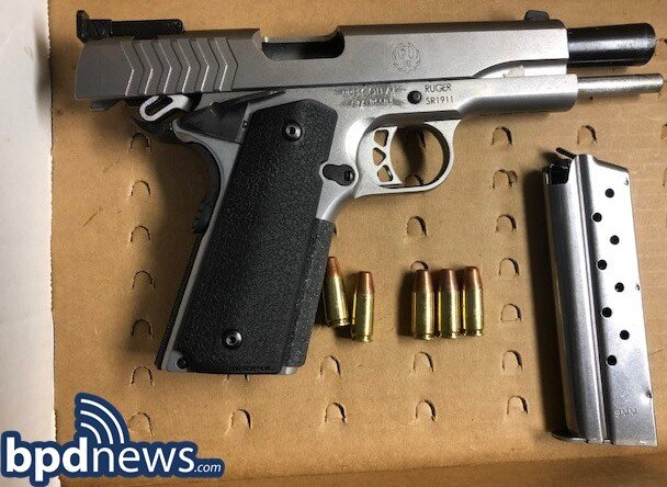Officers in D4 Recover a Loaded Firearm, Make One Arrest,  Following a Call for a Found Weapon