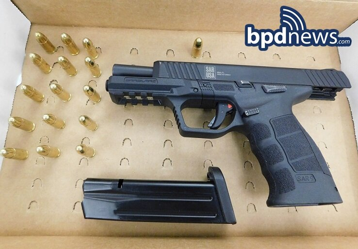 Officers from District B2 Make a Firearm Arrest of a Male Wanted on Domestic Violence Charges