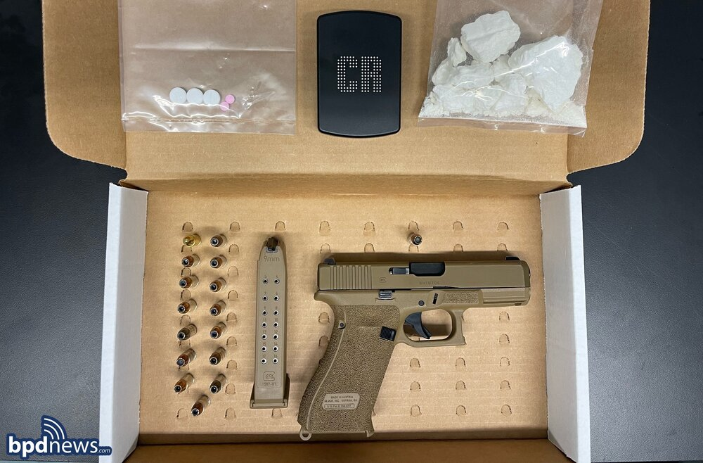 One Suspect Arrested after a Traffic Stop in Dorchester Leads to the Recovery of a Loaded Firearm and Drugs