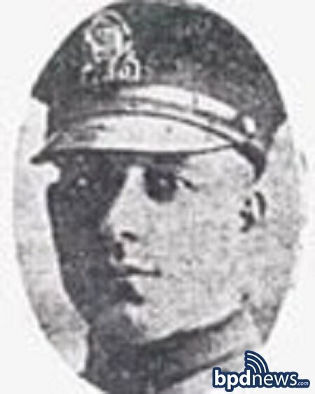 The Boston Police Department Remembers the Service and Sacrifice of Officer Albert Motroni 97 Years Ago Today