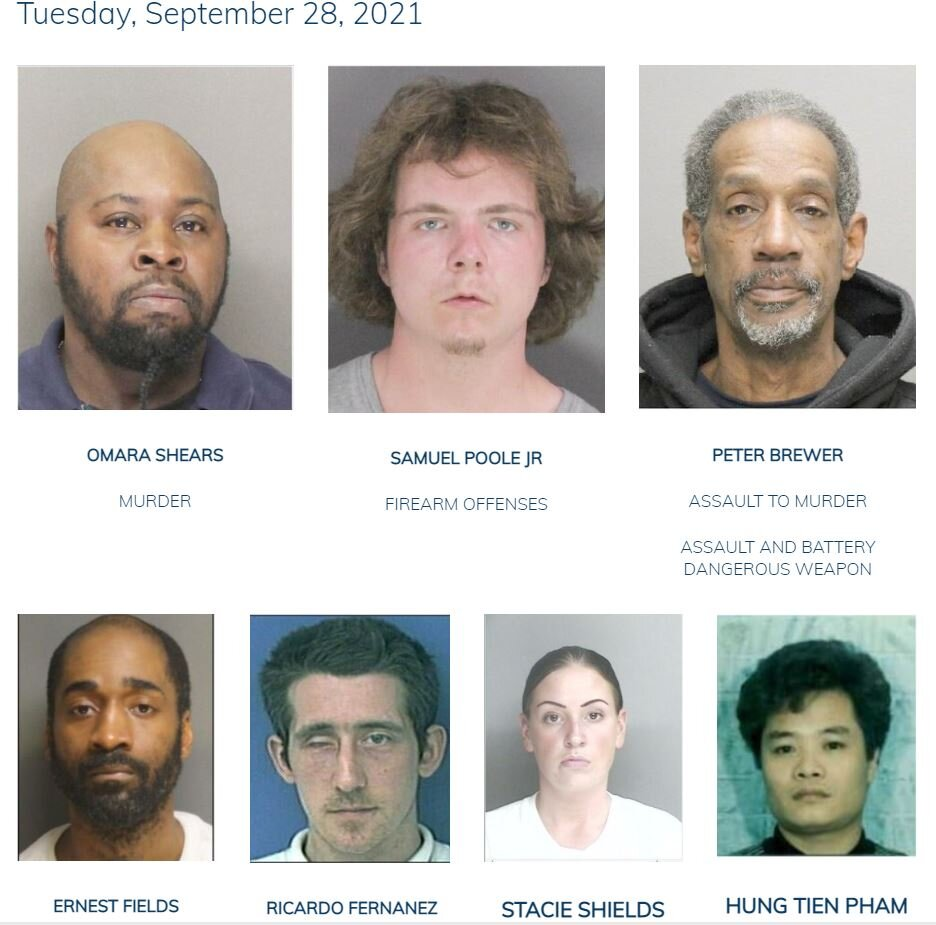 September 28, 2021: Have You Seen Us? Boston Police Update Most Wanted List