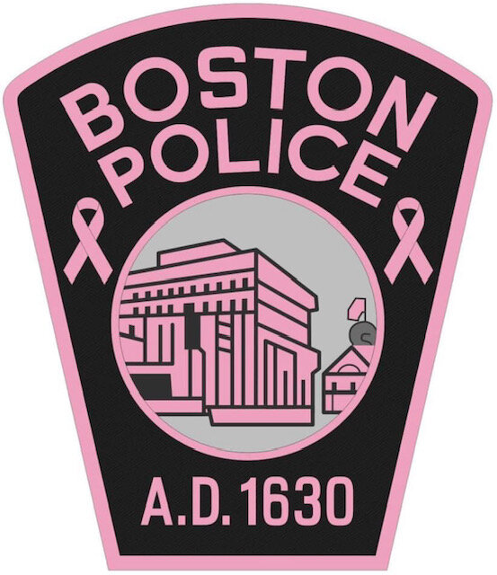 The Men and Women of the Boston Police Department Recognize Breast Cancer Awareness Month