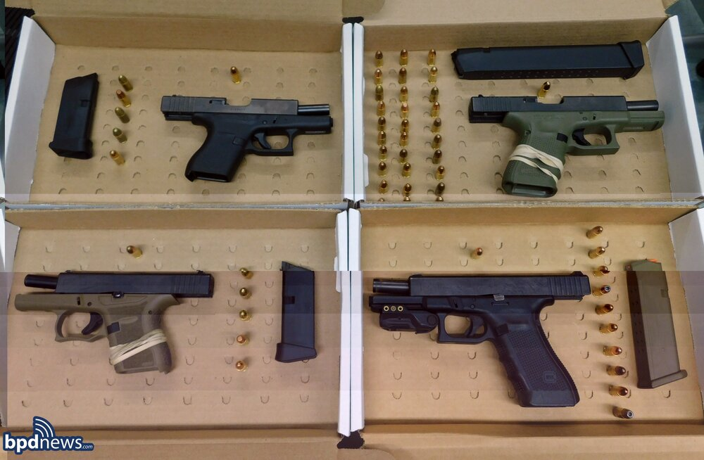 Officers Recover Four Loaded Firearms After a Traffic Stop in South Boston