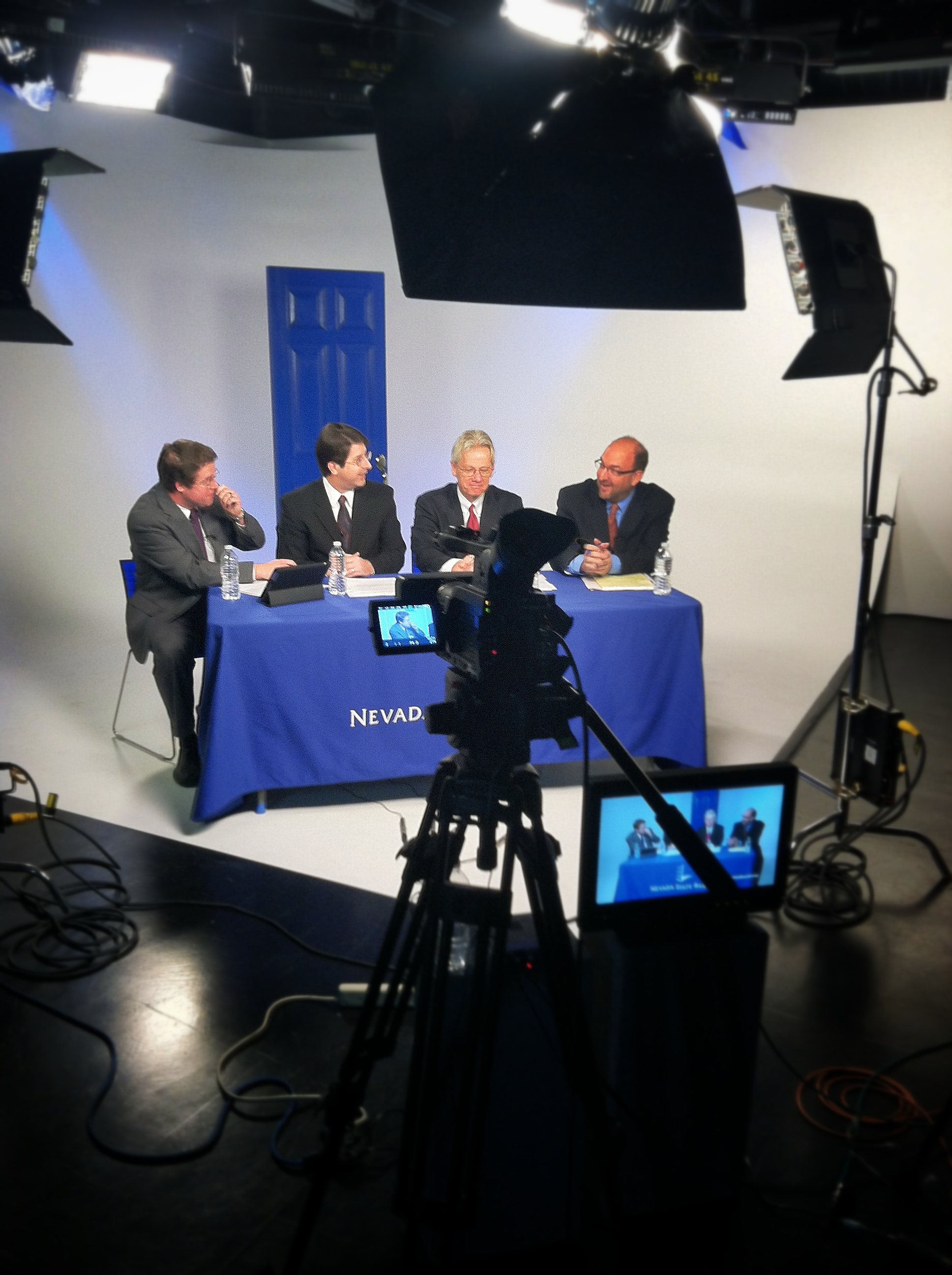 Shooting the webcast for Nevada State Bank.
