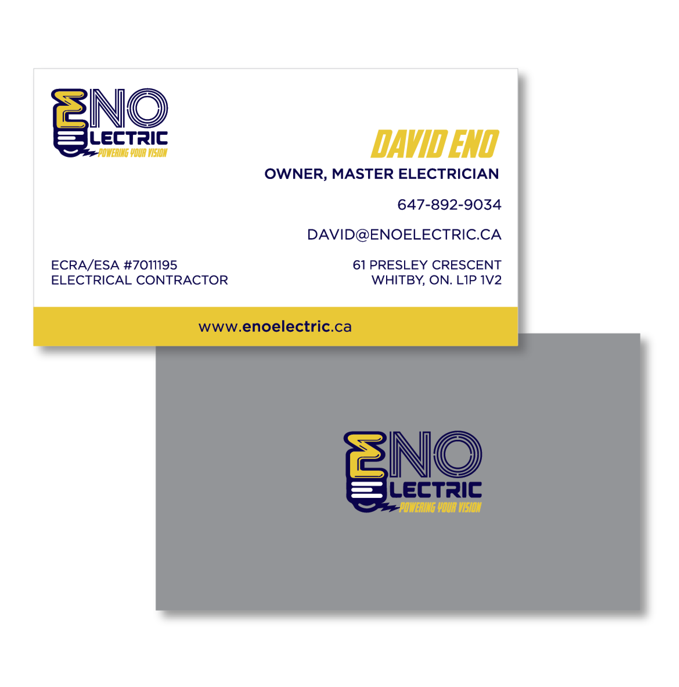 ENO Electric • Business Cards