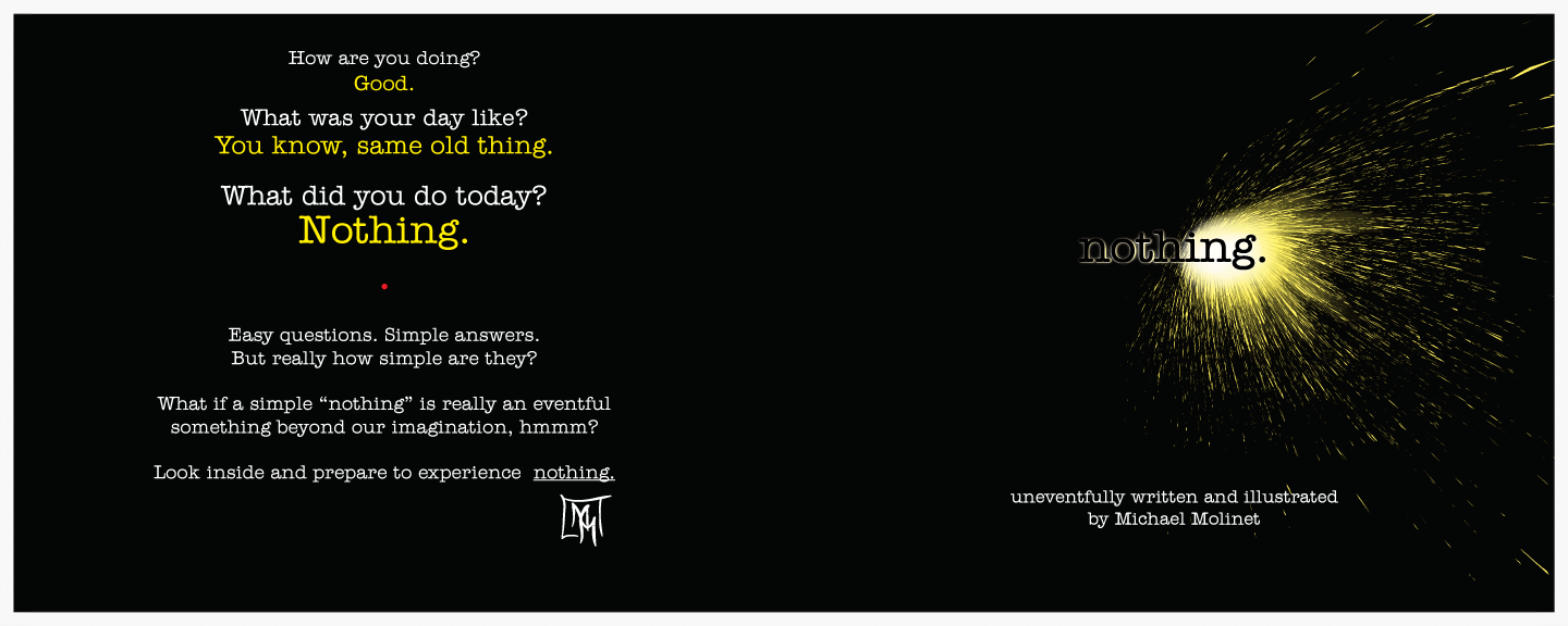 Nothing. Front and back cover