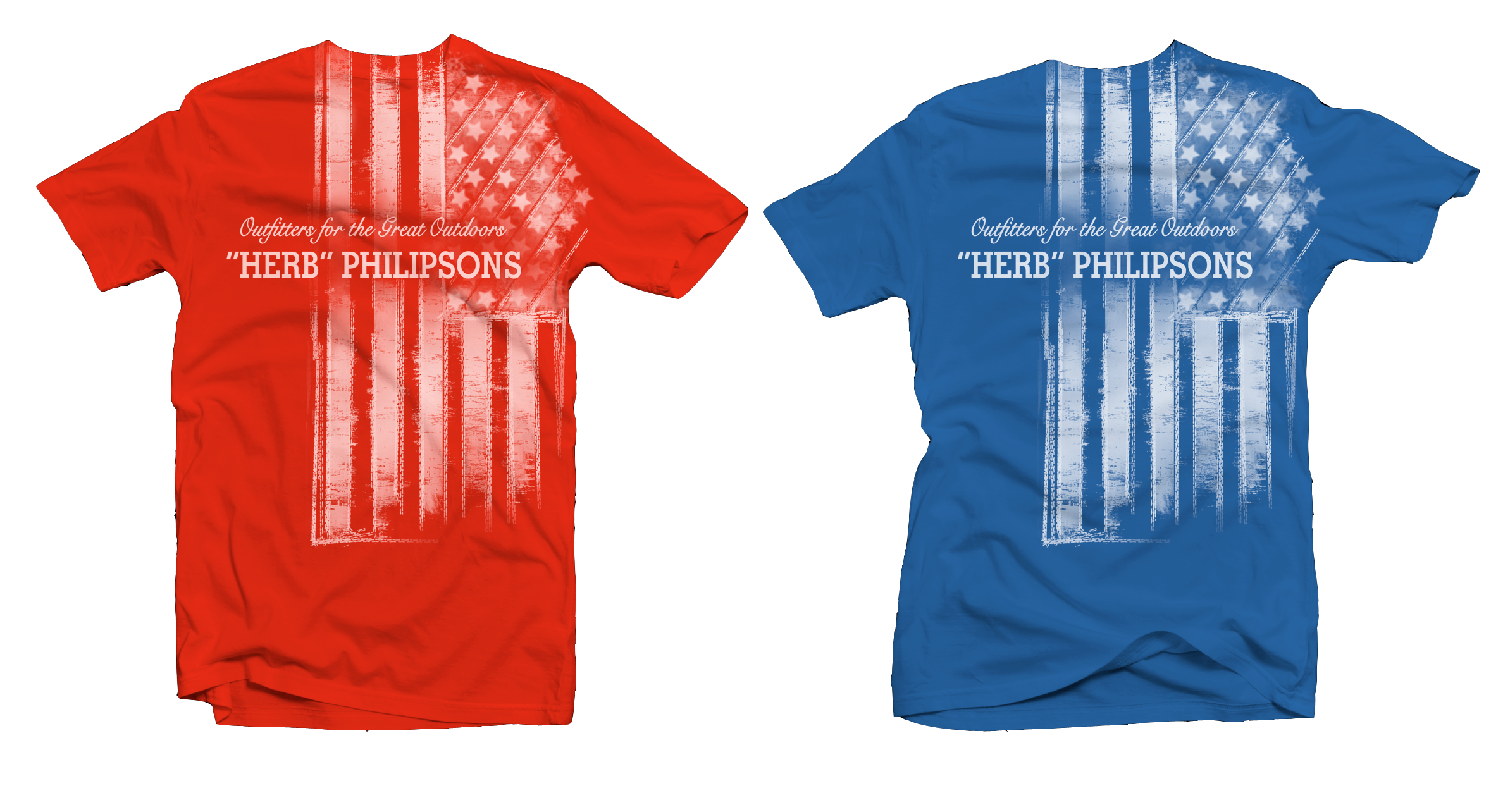 Part of my retail line for a sporting store chain here in the Northeast. Forth of July specialty shirts...except they seem to sell all year round.
