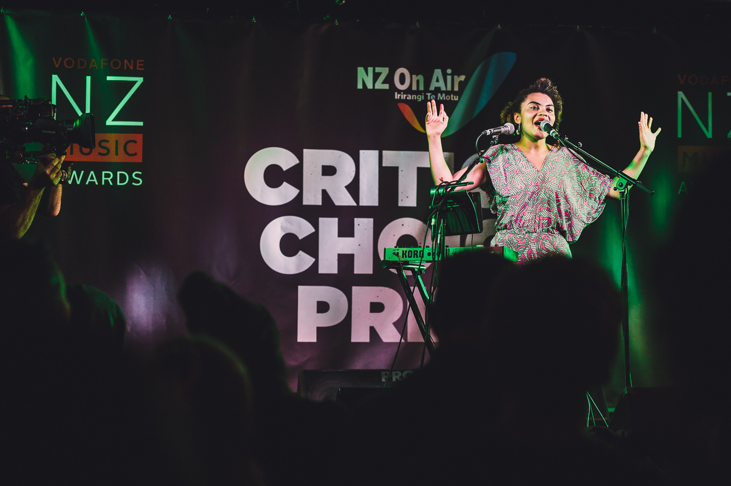 Lake South, Radna & Estere  performing at the Critic's Choice Showcase at the Kings Arms Tavern, Auckland, New Zealand on October 29, 2014.