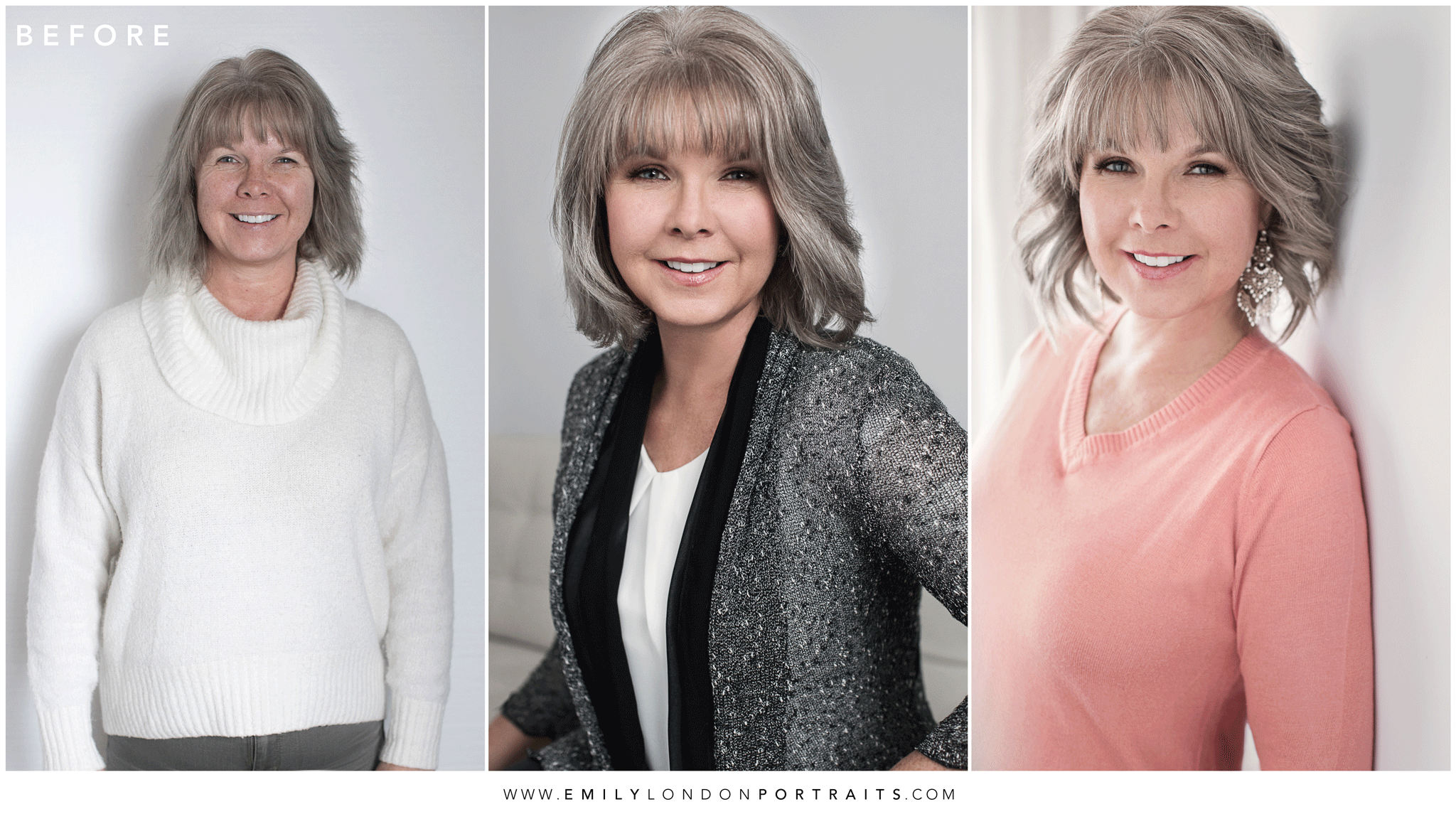 Same Day Transformation During a Photoshoot with Emily London Portraits in SLC Utah