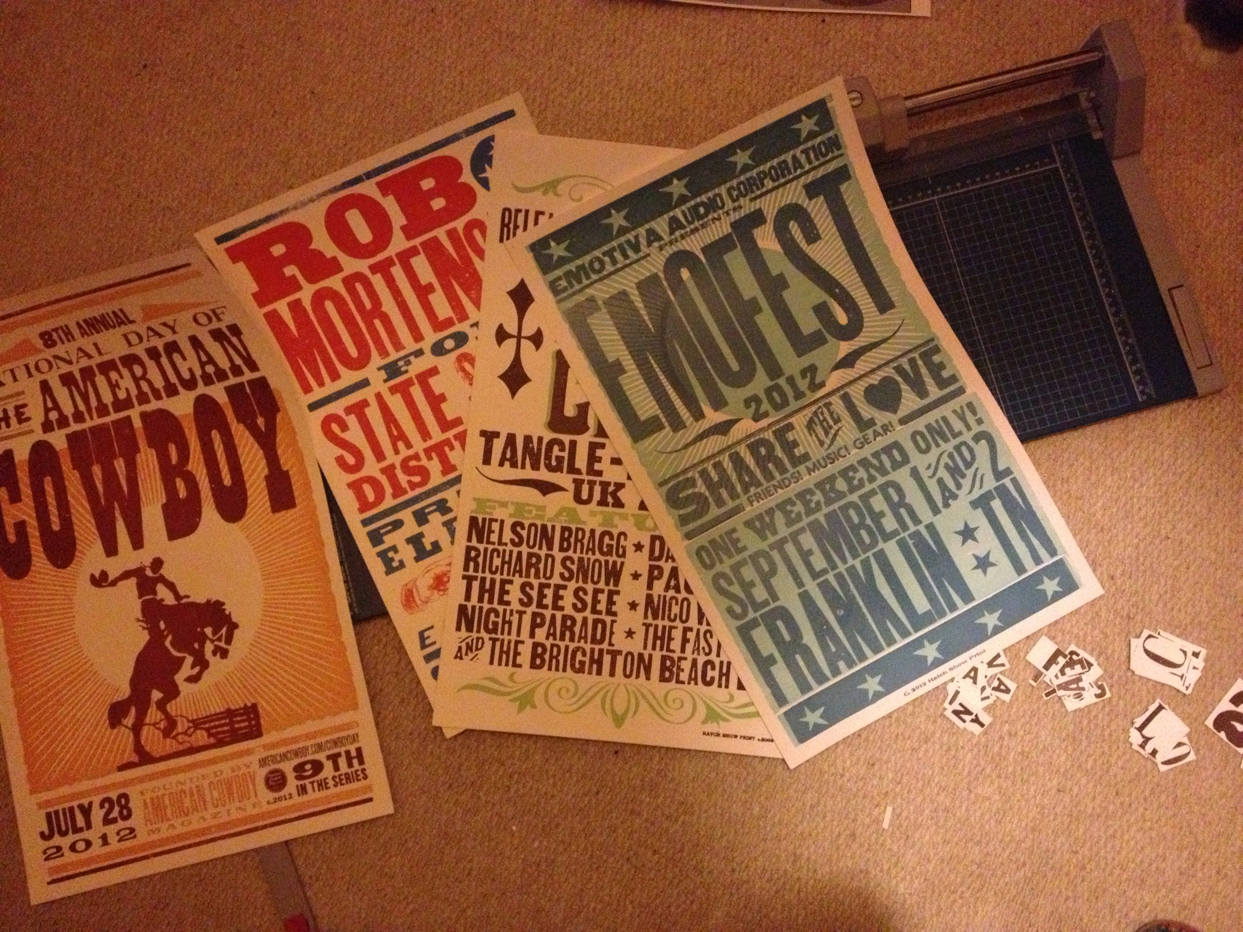 Posters from the Hatch Show Print $3 pile