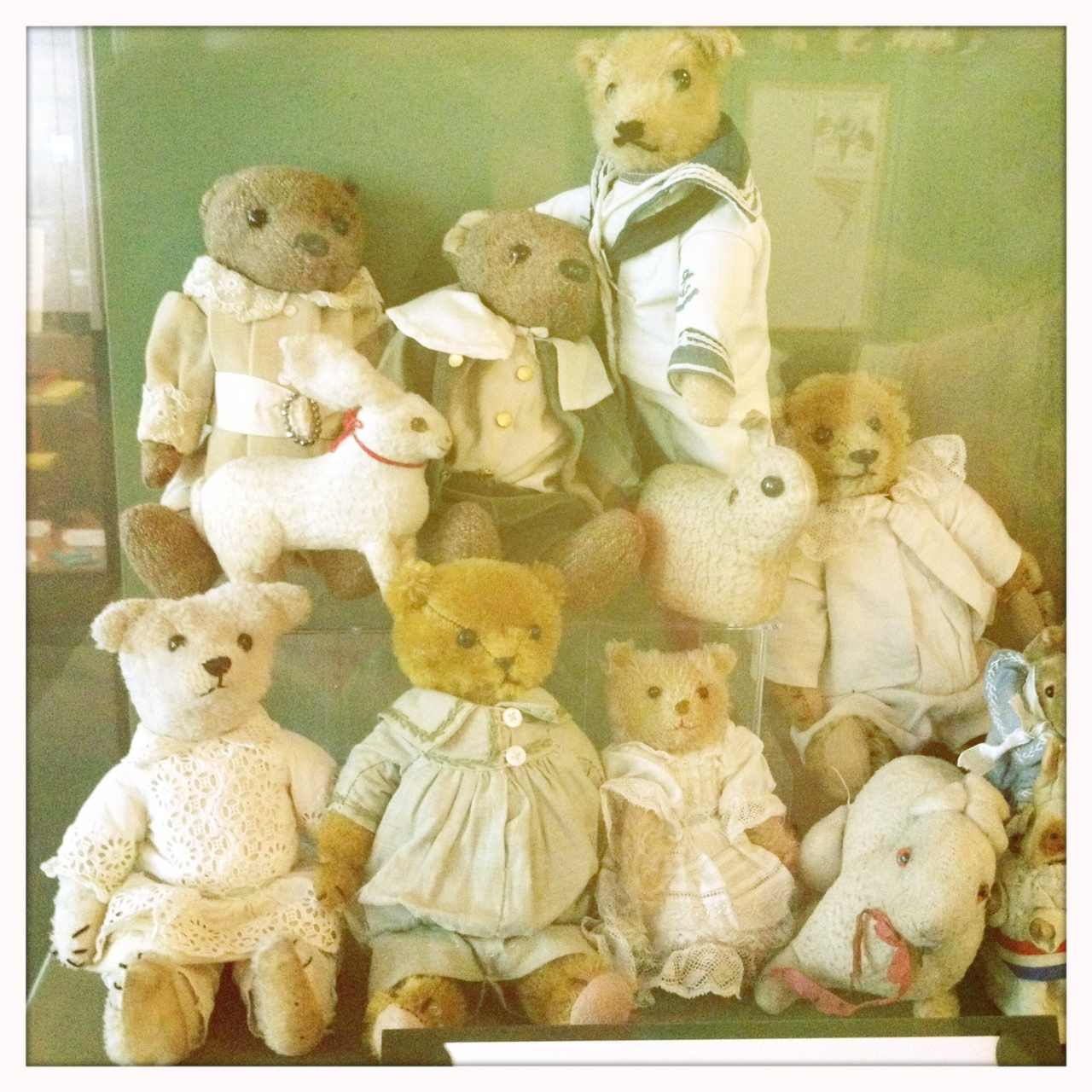 A 'hug of bears' from the Museum of Childhood. Very sweet!