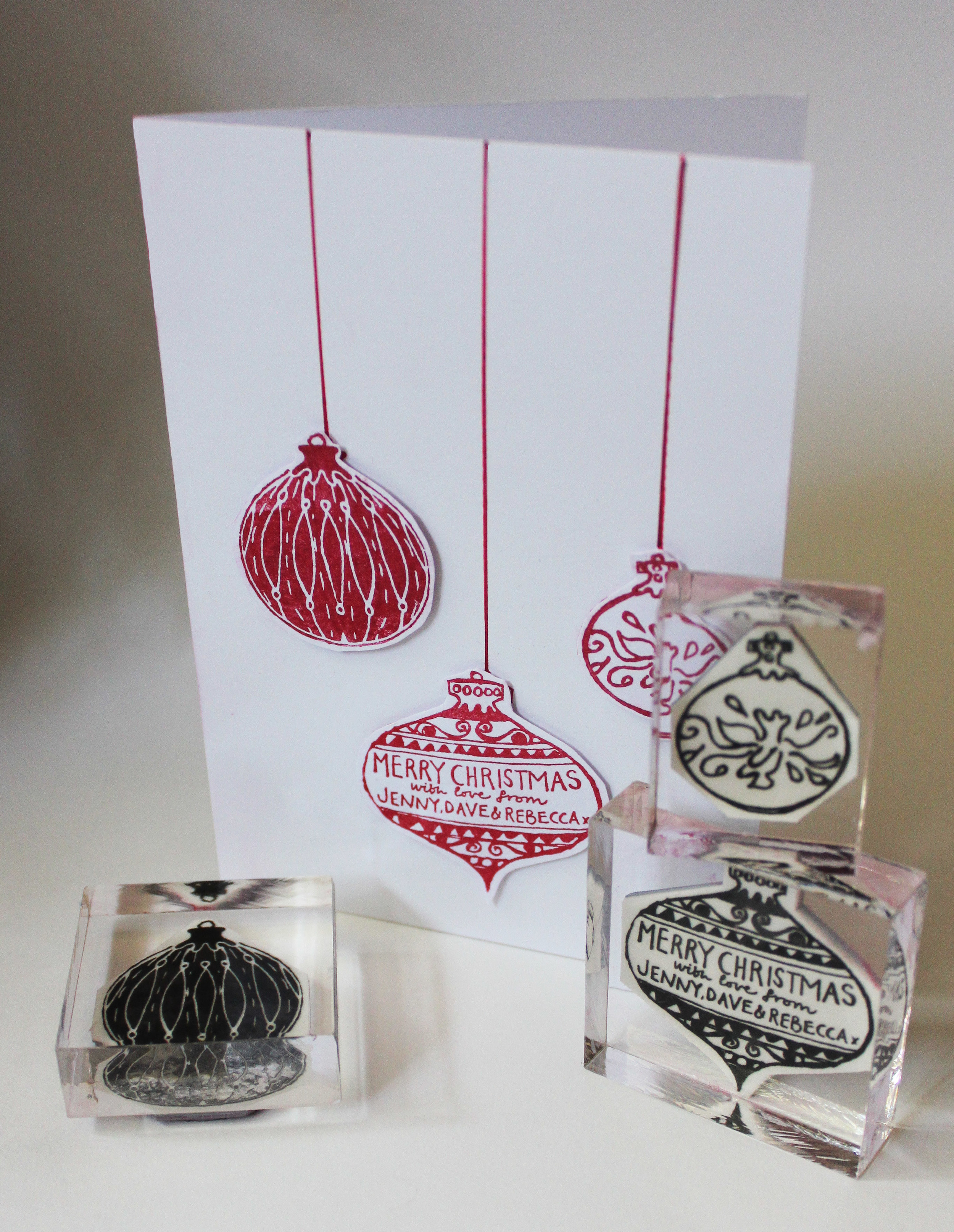 Baubles Stamp Set - 3D card
