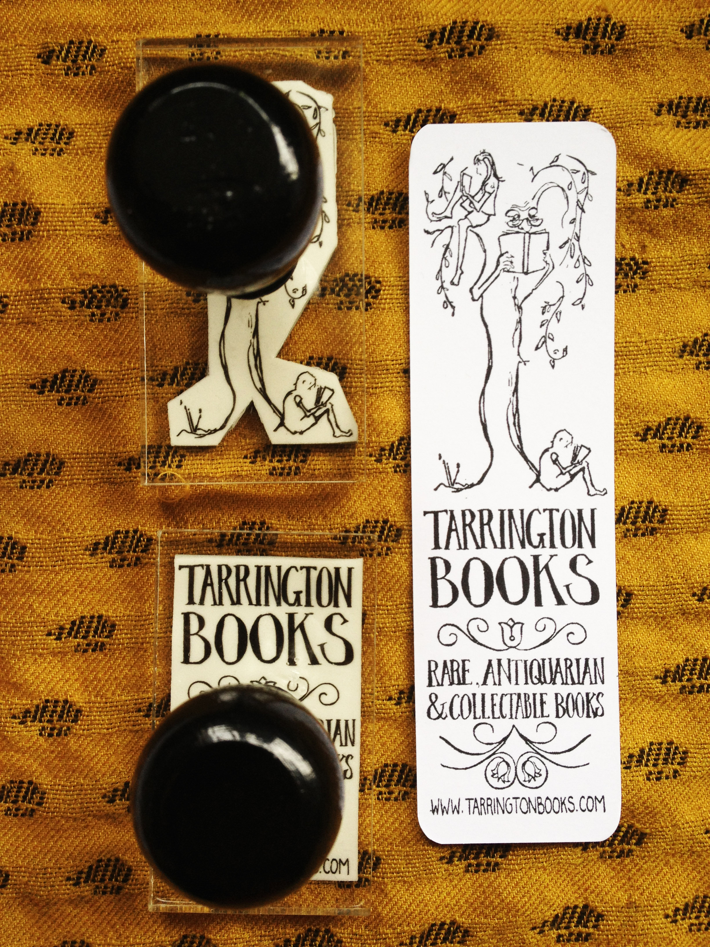 Tarrington Books bookmark stamps
